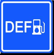 DEF road sign