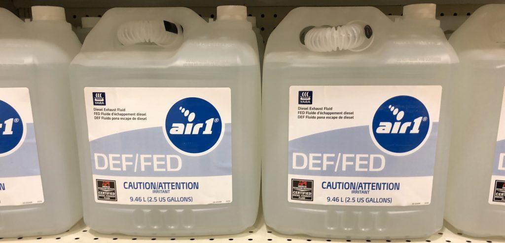 DEF on retailer shelf